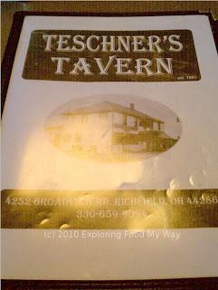 Teschner's Menu Page 1