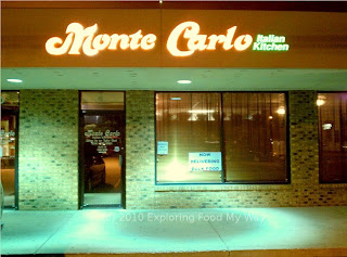 Storefront of Monte Carlo Italian Kitchen