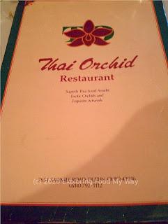 Thai Orchid's Menu Page 1