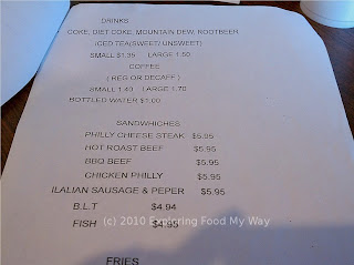 Lula Bell's Menu Page 5