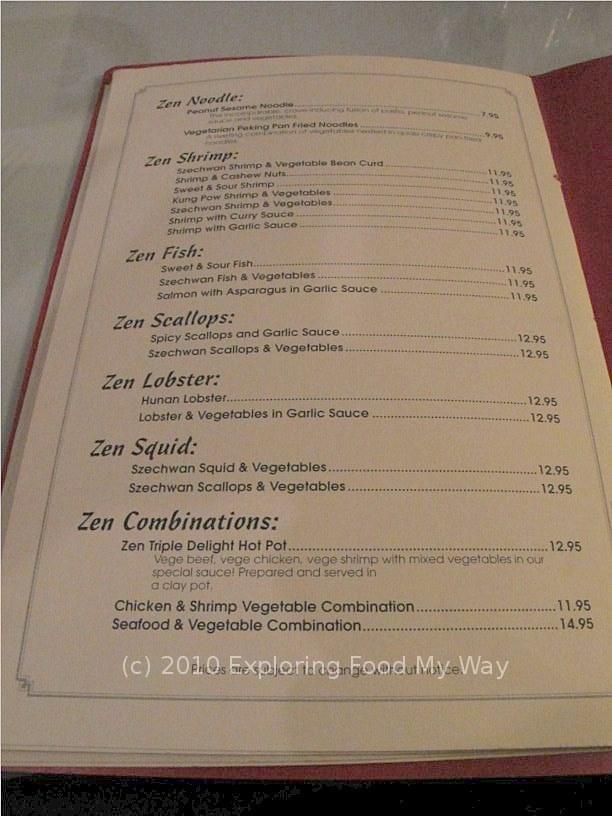 Szechwan Gardenu0027s Zen Menu Page 4