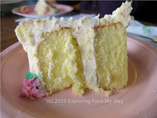 Yellow Cake with Buttercream Frosting