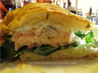 Side Shot of the Salmon BLT Croissant