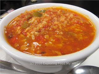 Close-up of Stuffed Pepper Soup