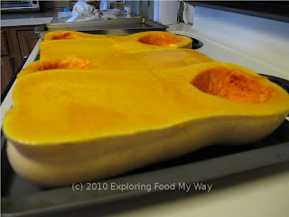 Halved and Oiled Butternut Squash