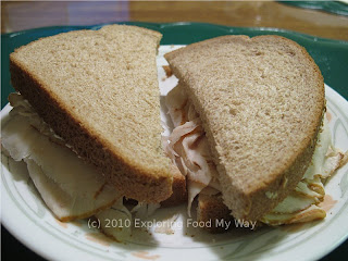 Turkey Sandwich on Whole Wheat