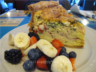 Quiche du Jour with Fresh Fruit Angle 2