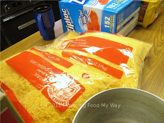 Large Bags of Shredded Cheddar Cheese