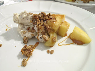 Caramelized Ohio Apples with Lucky Penny Goat Cheese and Black Walnut Granola