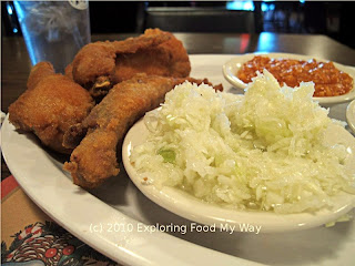 Coleslaw and Fried Chicken