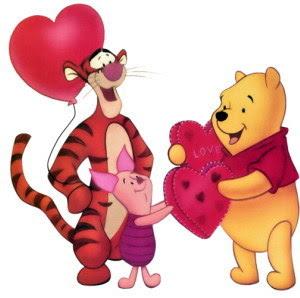 Pooh Valentine Cards
