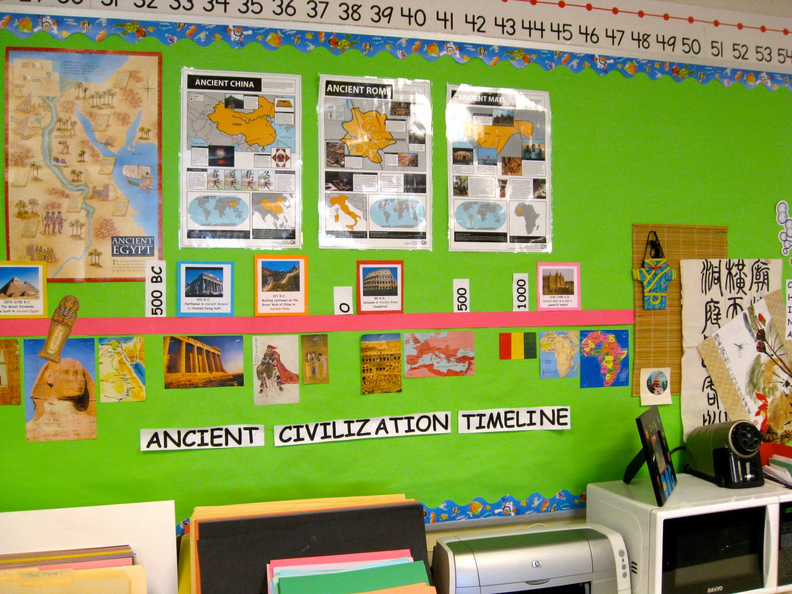 Classroom Timeline Ideas ~ The creative classroom june
