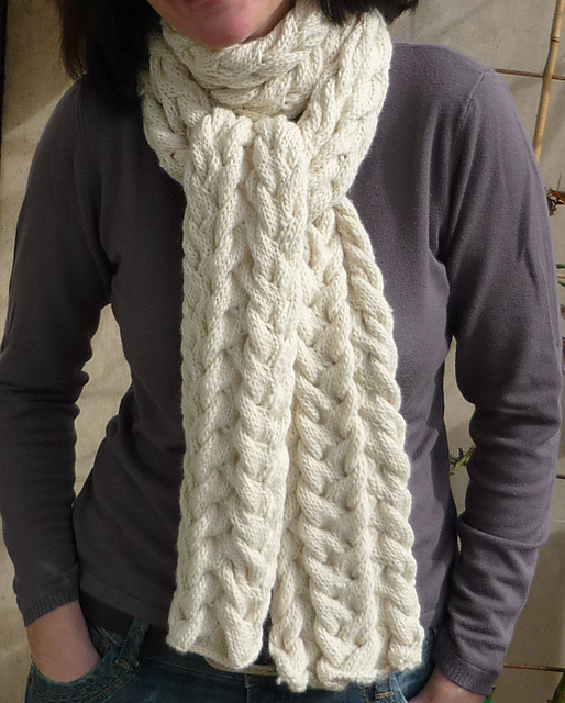Modification Moday: Cable Scarf - Knitted Bliss