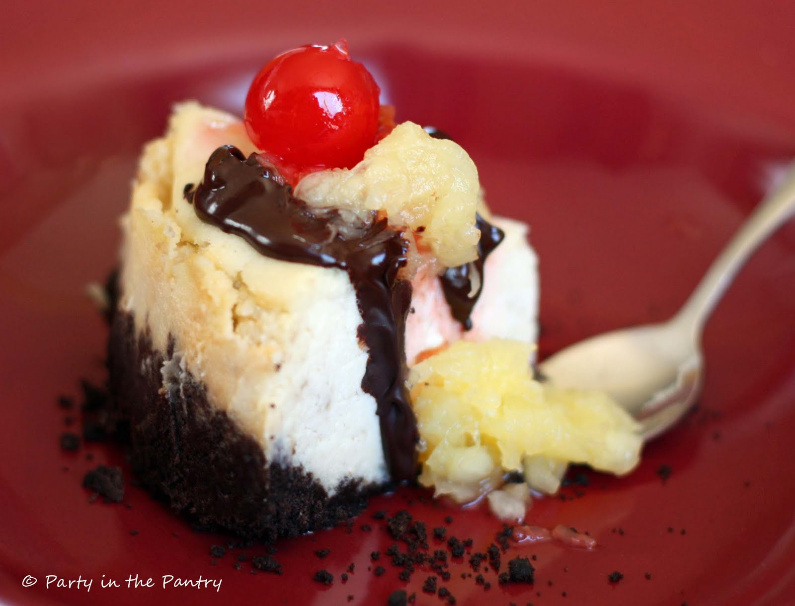 Party in the Pantry!: Banana Split Cheesecake