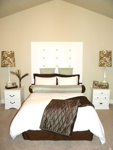 White DIY Headboard