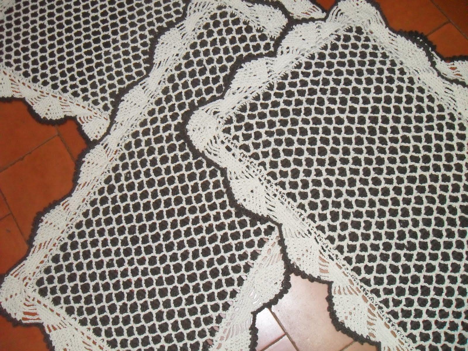 Tapetes De Croche Resultado Do Tapete De Croch Petnia With Tapetes  -> Tapete De Tecido Para Cozinha