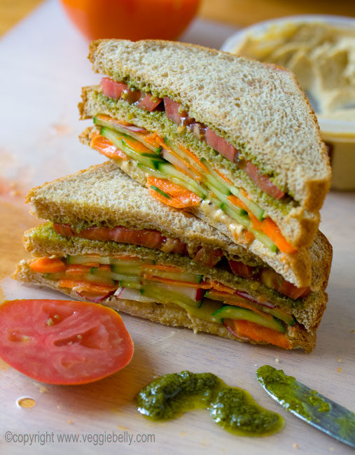 VEGETARIAN FREAKS: Vegetable Sandwich Recipe