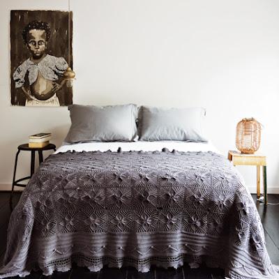 lavender gray bedspread