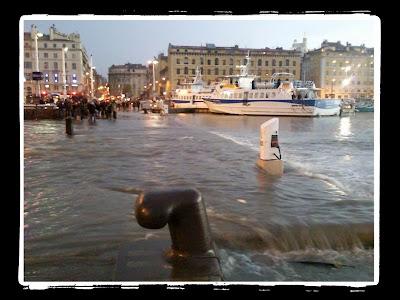 inondation du Vieux port Marseille