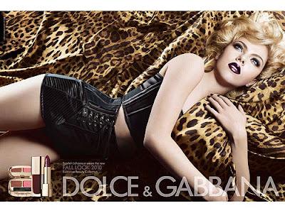 Scarlett Johansson la vampireza de la nueva campaña de maquillaje de Dolce & Gabbana