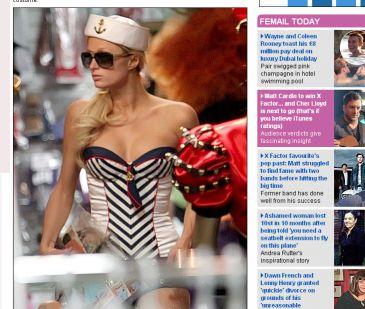 Paris Hilton muy guapa de marinera