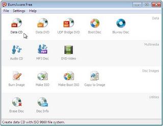 BurnAware soporte Blue-Ray gratis grabador
