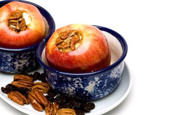 postre manzanas rellenas