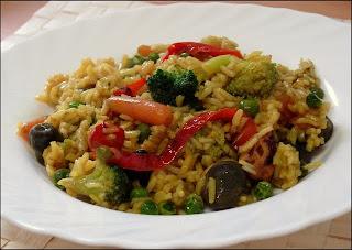 Receta Paella Natural de Verduras