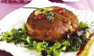 Receta Hamburguesa de Jamón y Pollo