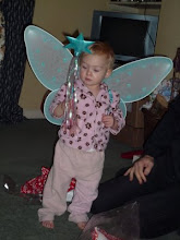 Keira as a fairy in pj's
