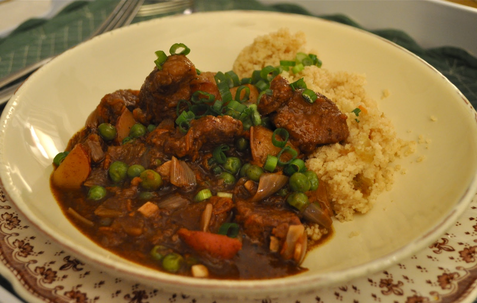 Two Sisters, Two Suppers: Moroccan Spiced Lamb Stew