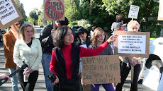 PROTEST AT FRANK RAHBAN'S HOME IS A HUGE SUCCESS. CLICK ON PICTURE TO LEARN MORE.