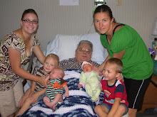 Great Grandpa Baxter and kids