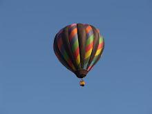 Balloon with black stripes