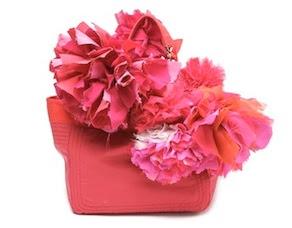 Lanvin pink pom pom tote bag