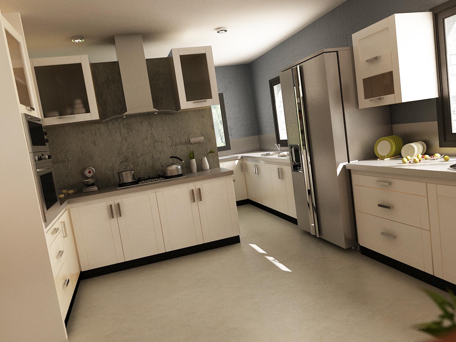 Vivienda en chacra cinco saltos fp3d for Remodelacion de cocinas