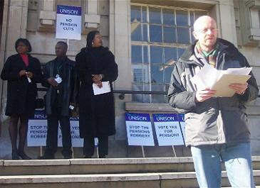 Left-wing trouble-makers picket the Council