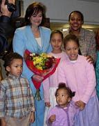 Miranda Grell with Cherie Blair