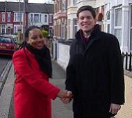 Miranda Grell with David Miliband