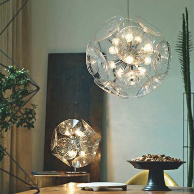 This modern glass pendant is sure to become quite a conversation piece in