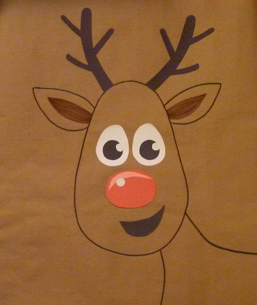 Rudolph Face Template Nose on rudolph game for