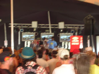 only my camera can truly convey how bumpin this tent was