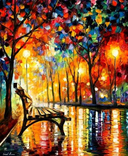 leonid afremov es un pintor que naci en vitebsk bielorusia en sus obras normalmente suelen ser paisajes de naturaleza en colores vivos