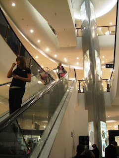 Shop escalator
