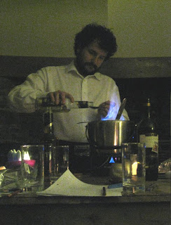 The flaming punch bowl