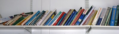 Shelf of reference books