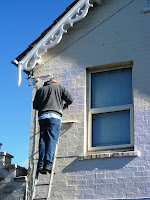 Painting the front of the house