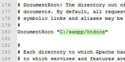 Changing root folder in Apache