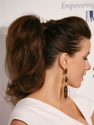 The hairstyles include the simply elegant look, pinned up ringlets,