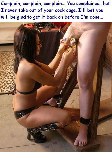 Female domination through teasing and orgasm denial